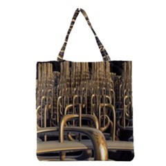 Fractal Image Of Copper Pipes Grocery Tote Bag
