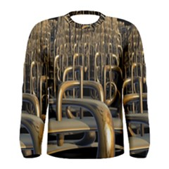 Fractal Image Of Copper Pipes Men s Long Sleeve Tee