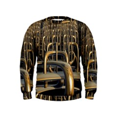 Fractal Image Of Copper Pipes Kids  Sweatshirt