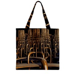 Fractal Image Of Copper Pipes Zipper Grocery Tote Bag