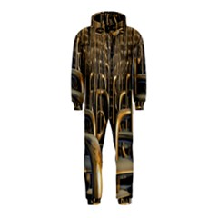 Fractal Image Of Copper Pipes Hooded Jumpsuit (Kids)
