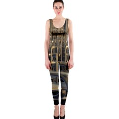 Fractal Image Of Copper Pipes Onepiece Catsuit