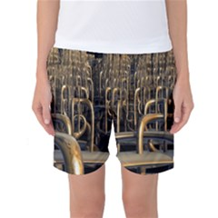 Fractal Image Of Copper Pipes Women s Basketball Shorts