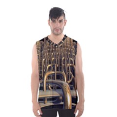 Fractal Image Of Copper Pipes Men s Basketball Tank Top