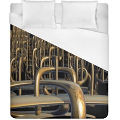Fractal Image Of Copper Pipes Duvet Cover (california King Size)