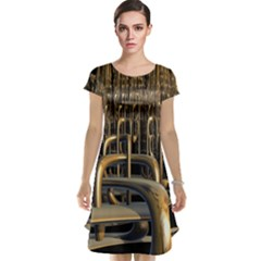 Fractal Image Of Copper Pipes Cap Sleeve Nightdress