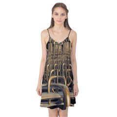 Fractal Image Of Copper Pipes Camis Nightgown