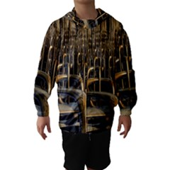 Fractal Image Of Copper Pipes Hooded Wind Breaker (kids)