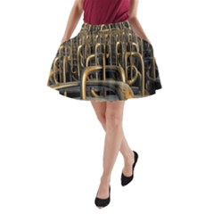 Fractal Image Of Copper Pipes A Line Pocket Skirt