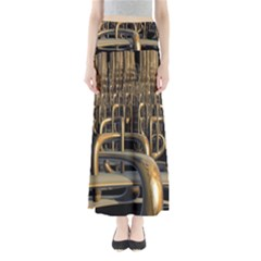 Fractal Image Of Copper Pipes Maxi Skirts