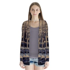 Fractal Image Of Copper Pipes Cardigans