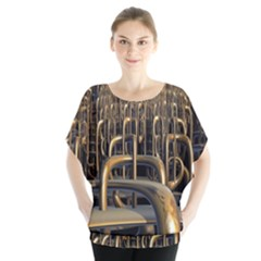 Fractal Image Of Copper Pipes Blouse