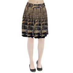 Fractal Image Of Copper Pipes Pleated Skirt