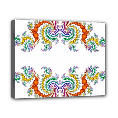 Fractal Kaleidoscope Of A Dragon Head Canvas 10  x 8