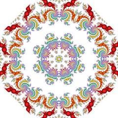 Fractal Kaleidoscope Of A Dragon Head Folding Umbrellas