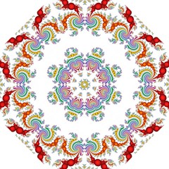 Fractal Kaleidoscope Of A Dragon Head Hook Handle Umbrellas (Small)