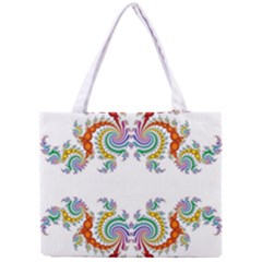 Fractal Kaleidoscope Of A Dragon Head Mini Tote Bag