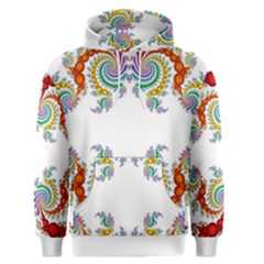 Fractal Kaleidoscope Of A Dragon Head Men s Pullover Hoodie