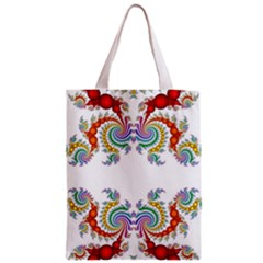 Fractal Kaleidoscope Of A Dragon Head Zipper Classic Tote Bag