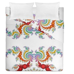 Fractal Kaleidoscope Of A Dragon Head Duvet Cover Double Side (queen Size)
