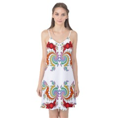 Fractal Kaleidoscope Of A Dragon Head Camis Nightgown