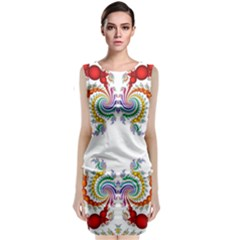 Fractal Kaleidoscope Of A Dragon Head Classic Sleeveless Midi Dress