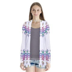 Fractal Kaleidoscope Of A Dragon Head Cardigans
