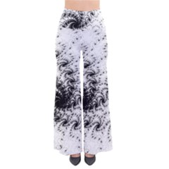 Fractal Black Spiral On White Pants