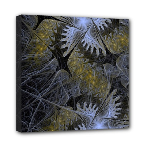 Fractal Wallpaper With Blue Flowers Mini Canvas 8  x 8