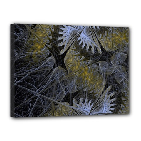 Fractal Wallpaper With Blue Flowers Canvas 16  X 12