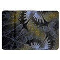 Fractal Wallpaper With Blue Flowers Samsung Galaxy Tab 8.9  P7300 Flip Case View1