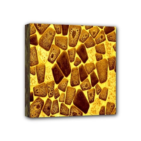 Yellow Cast Background Mini Canvas 4  X 4