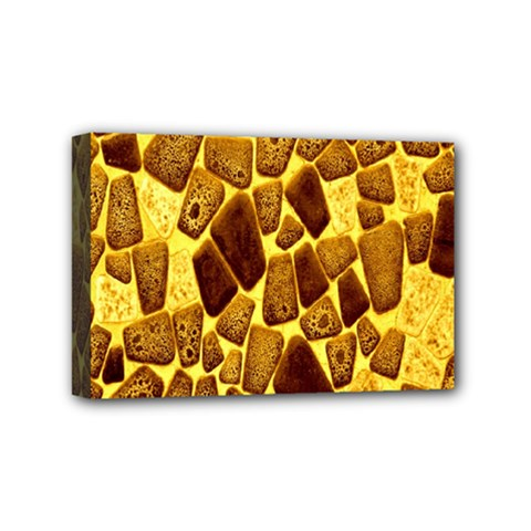Yellow Cast Background Mini Canvas 6  X 4