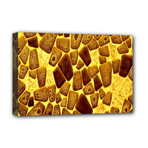 Yellow Cast Background Deluxe Canvas 18  x 12