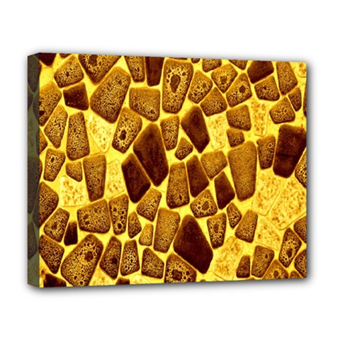 Yellow Cast Background Deluxe Canvas 20  X 16