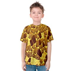 Yellow Cast Background Kids  Cotton Tee