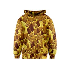 Yellow Cast Background Kids  Pullover Hoodie