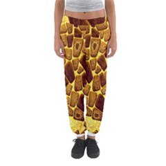 Yellow Cast Background Women s Jogger Sweatpants