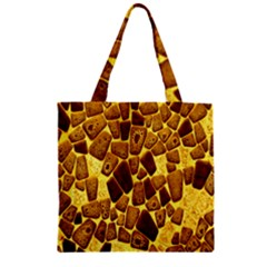 Yellow Cast Background Zipper Grocery Tote Bag