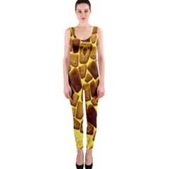 Yellow Cast Background OnePiece Catsuit