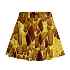 Yellow Cast Background Mini Flare Skirt