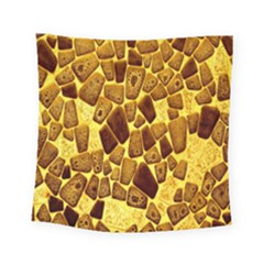 Yellow Cast Background Square Tapestry (small)