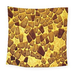 Yellow Cast Background Square Tapestry (large)