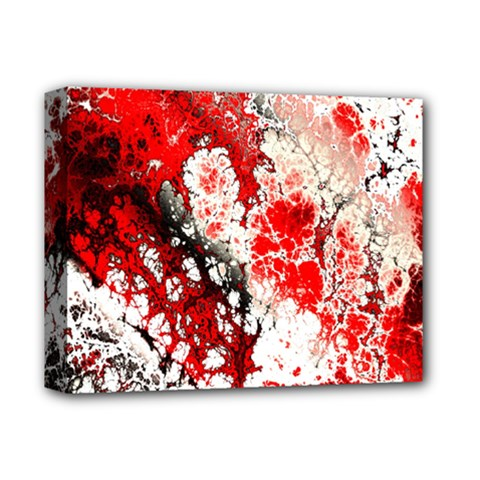 Red Fractal Art Deluxe Canvas 14  X 11