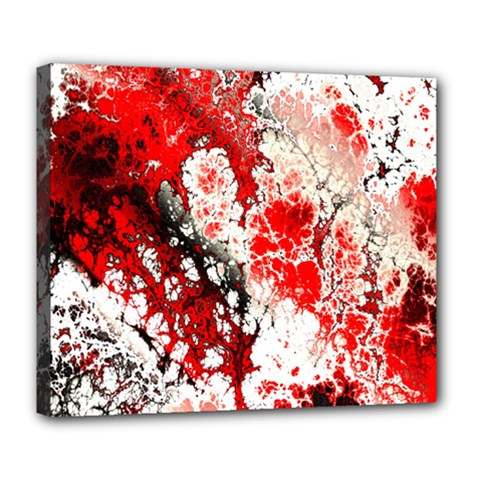 Red Fractal Art Deluxe Canvas 24  x 20