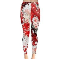 Red Fractal Art Leggings