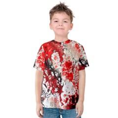 Red Fractal Art Kids  Cotton Tee
