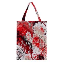 Red Fractal Art Classic Tote Bag