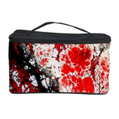 Red Fractal Art Cosmetic Storage Case