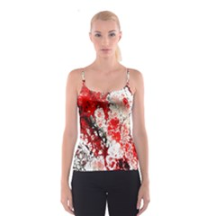 Red Fractal Art Spaghetti Strap Top